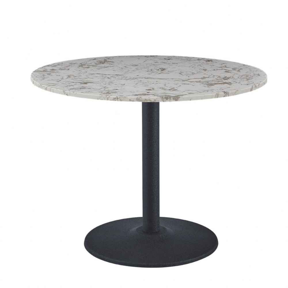 Luxury round Dining table with black leg-60cm